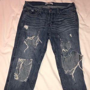 Destroyed Hollister Boyfriend Jeans